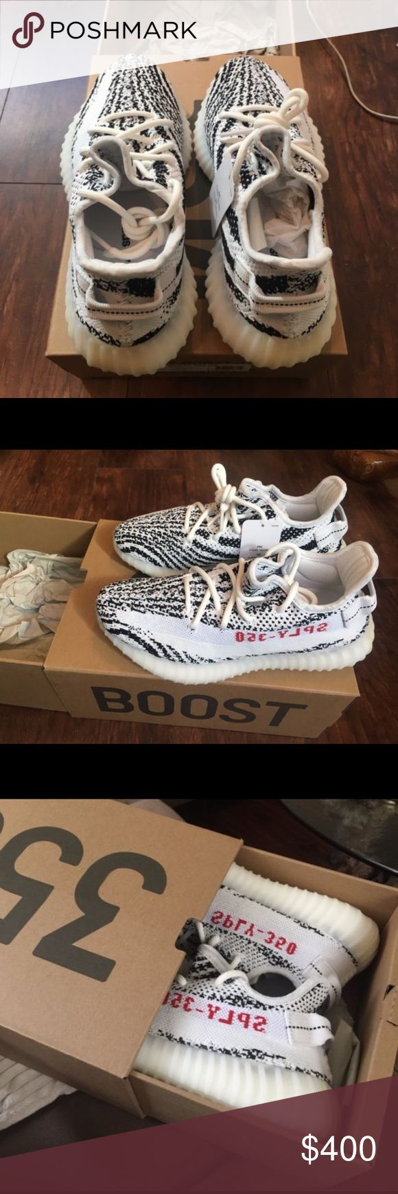 YEEZY BOOST 350v2 zebra 110%% Authentic purchased when came out  ,RECEIPT IN HAND cleaning out my closet instead of collecting dust would love to sell for the right price PLEASE ALL SERIOUS BUYERS CONTACT ME AT (248) 621-2849 Yeezy Shoes Sneakers