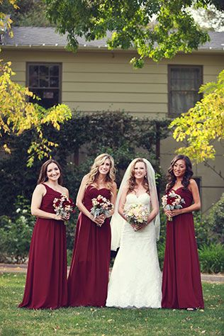 I love the deep romantic red. I'd like the bridesmaids to have ivory bouquets and bride to have deep red rose bouquet