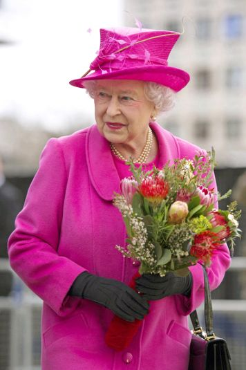 Queen Elizabeth, March 21, 2014 in Angela Kelly | The Royal Hats Blog