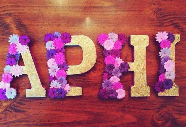 ***ZTA flower letters