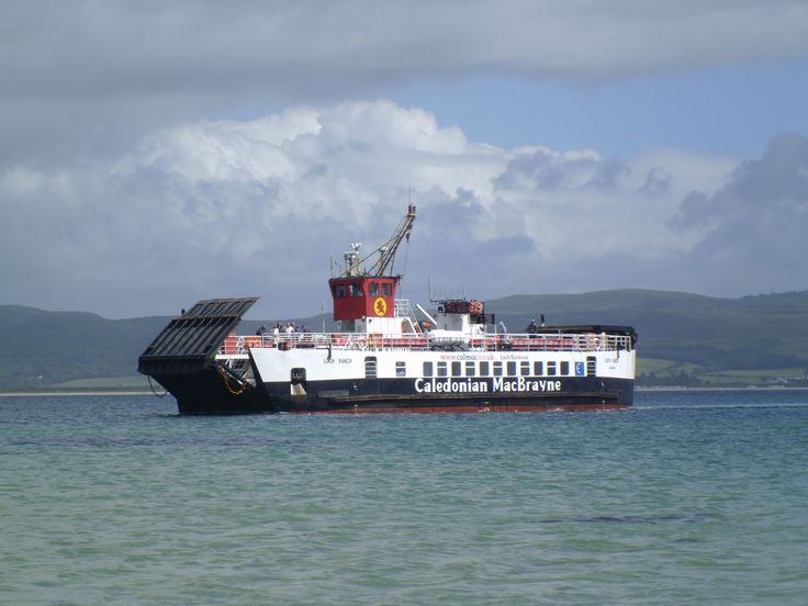 MV Loch Ranza arriving at the Isle of Gigha