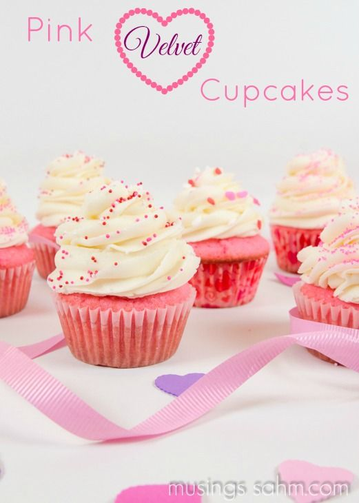 Pink Velvet Cupcakes - Musings From a Stay At Home Mom (Thanks Tedda, more yummys from Erin's wedding.)
