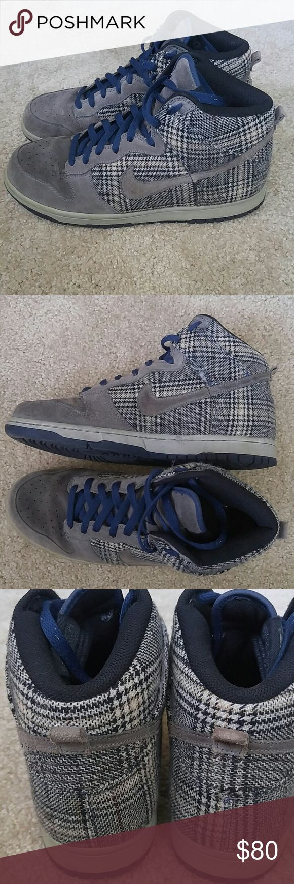 Nike Dunk hi Houndstooth barely worn Nike Shoes Sneakers