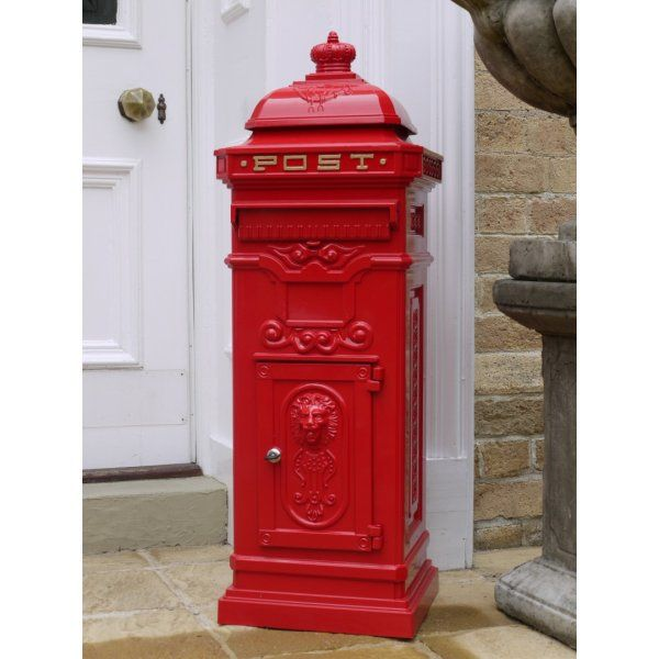 buy victorian style red pillar mailbox letterbox swanky interiors