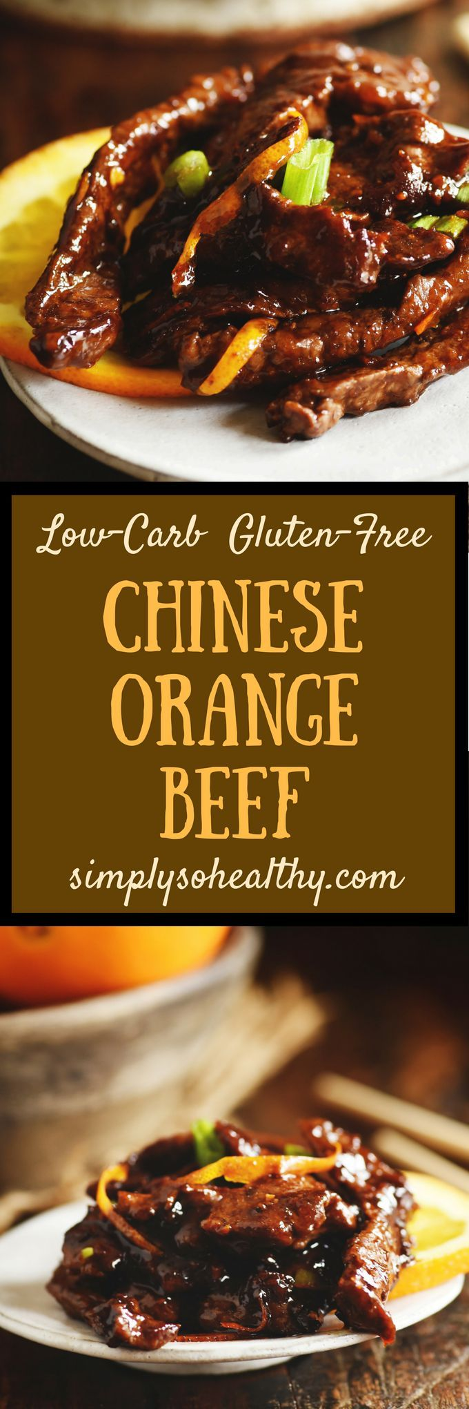 Make take-out in your own kitchen with our Orange Beef – Low-Carb Chinese Food Recipe! Unlike most take-out, this recipe can work for low-carb, keto, Atkins, diabetic, gluten-free, grain-free, dairy-free and Banting diets.  #lowcarbrecipe
