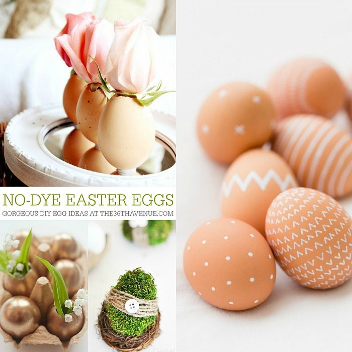 No DYE Easter Egg Tutorials at the36thavenue.com Pin it now and make them later!