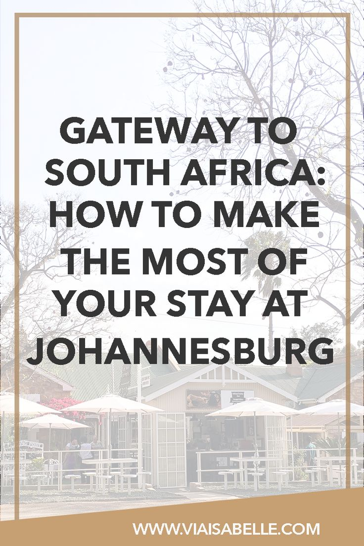 Sometimes staying in a city would do you better than traveling right away! And with South Africa's long travel time, many travellers prefer staying at Johannesburg for a day or two to recover from the long flight. Check out why you should do the same, what to expect, and what to love!
