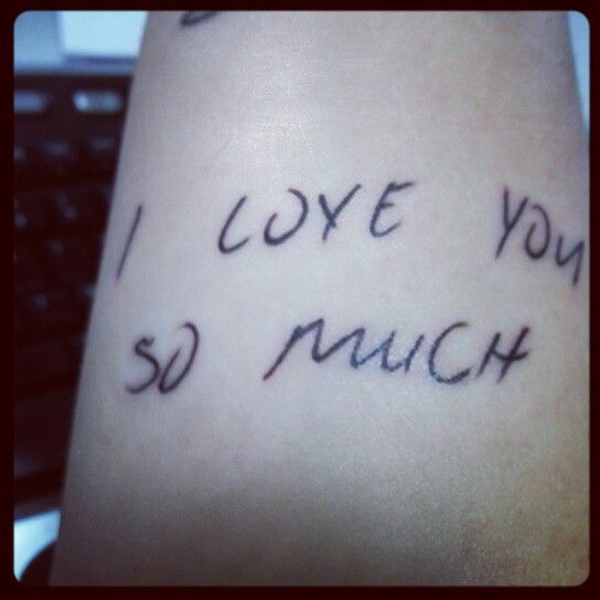 handwriting tattoos Handwritten tattoos most ripmom mom mommy girlswithink ink girls with tattoos tattoos resteasy comeback i love you rest in peace mom rest in peace handwriting.