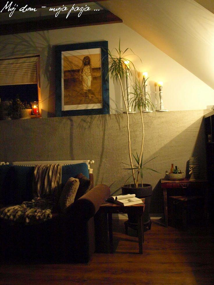 salon, rest room, at night, candlestick, loft, industrial