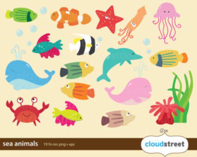 Arte Di Clip Clipart Animale Mare Marino Pesce