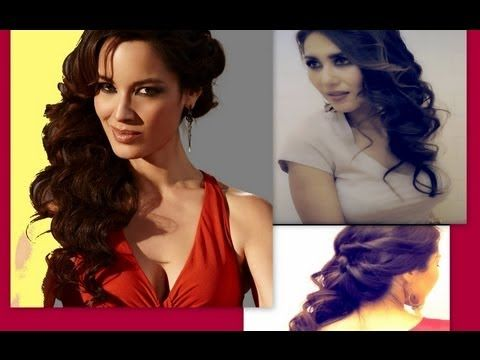 ★007 SKYFALL BOND GIRL INSPIRED: FORMAL HALF-UP UPDO TWIST WITH CURLS HAIRSTYLE FOR LONG HAIR