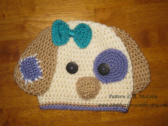 Patchy Puppy Hat Pattern Crochet Pattern por Simply2Irresistible