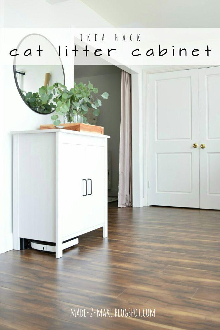Made2Make Blog   Ikea Hack: DIY Cat Litter Cabinet