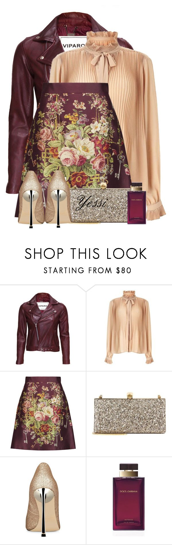 """""""~ 💕 D&G Satin Mini Skirt 💕 ~"""" by pretty-fashion-designs ❤ liked on Polyvore featuring VIPARO, Miss Selfridge, Dolce&Gabbana, Jimmy Choo and Nine West"""