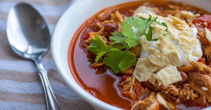 Slow Cooker Red Pepper Chicken Chili