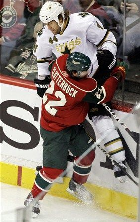 mn. wild hockey players photo gallery | ... Minnesota Wild, Dallas Stars, Jeff Woywitka (AP Photo/Paul Battaglia