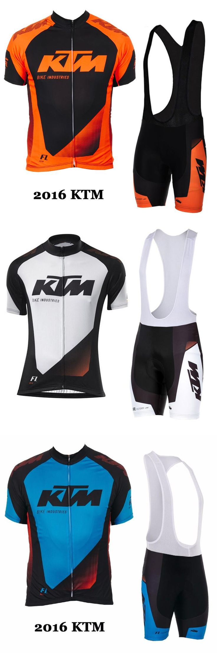 [Visit to Buy] 2016 KTM Cycling team jersey bike shorts set Ropa Ciclismo mens summer pro cycling wear ride maillot Culotte customize clothes #Advertisement