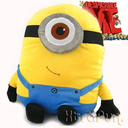"BIG! Despicable Me Minion Figure 18"" Stewart Cushion Pillow Plush Stuffed Doll Toy collectible -XTRAFUN ESSENTIALS by XTRAFUN, http://www.amazon.co.uk/dp/B005ZB1GP2/ref=cm_sw_r_pi_dp_jqMAsb04JJ4N9"