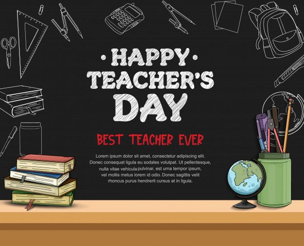 Happy Teacher S Day Banner Template In 2020 Happy Teachers Day Teachers Day Message Happy Teachers Day Message
