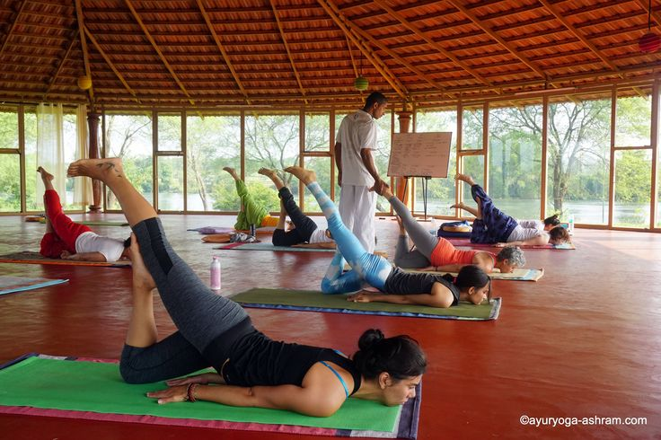 """""""One month yoga teacher training program to experience the intensive and spiritual teachings and practices of traditional Hatha yoga - with more emphasis on breathing, awareness, meditation and practical philosophy to live an enlightened life in society. Also, you will be presented with a professional yoga teacher certification, from Yoga Alliance""""…"""