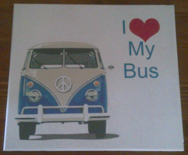 Word Phrase Plaque I Love My Bus Conversion DisorderHandmade Gifts BusesWords