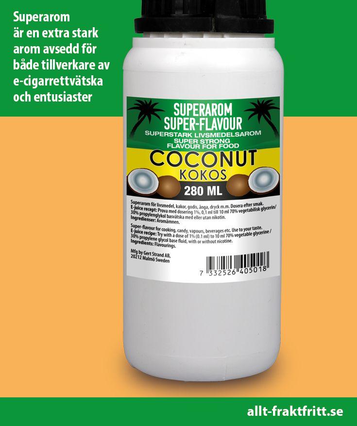 Superstark arom som ger smak till vape, drycker, godis, e-juice med mera.