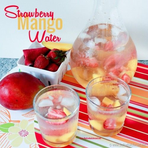 Strawberry Mango Water–Skin, Cholesterol, and Eye Health