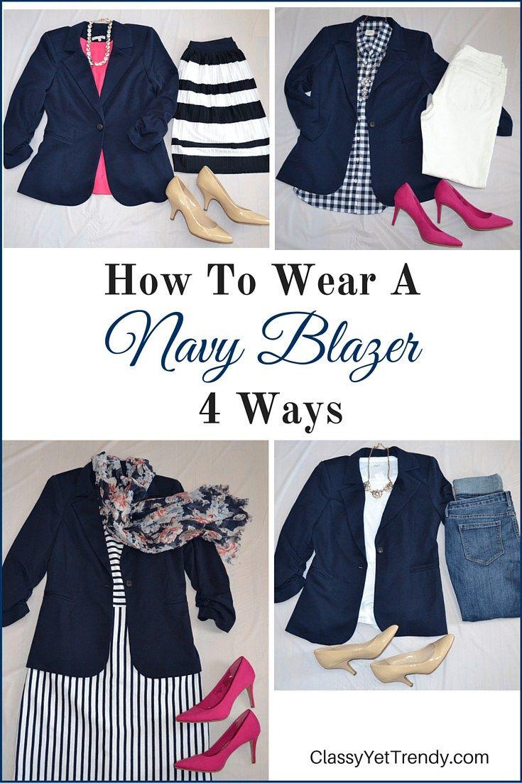 4 Ways To Wear A Navy Blazer                                                                                                                                                      More