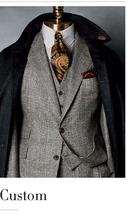 English tailoring. Custom Taylor-made men's Suit. Paul Stuart