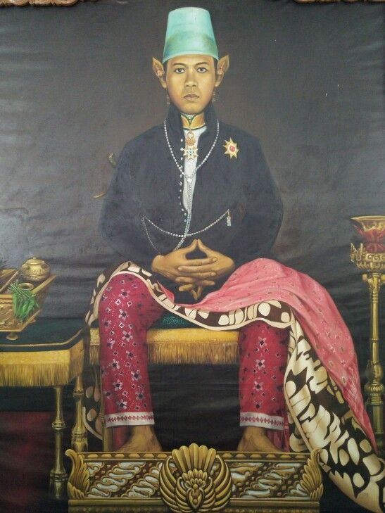 The painting of Sultan Hamengku Buwono IX of Yogyakarta (1939 - 1988)