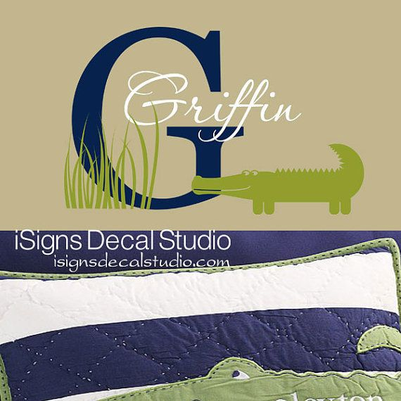 ALLIGATOR WALL DECAL Custom Alligator Decal by iSignsDecalStudio
