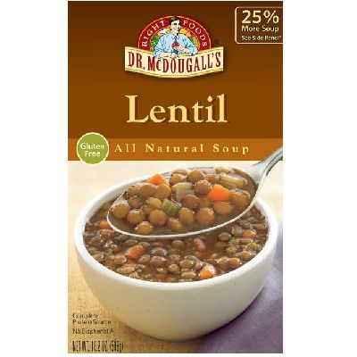 Dr. Mcdougall's French Lentil Soup (6x17.6OZ )