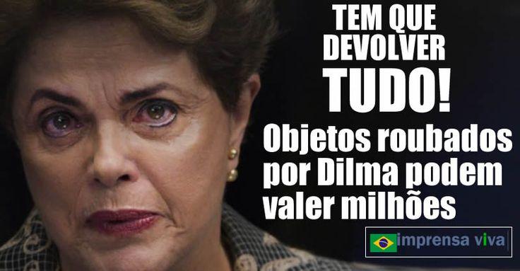 O prazo para que a ex-presidente Dilma Rousseff devolva ao governo os 144 objetos que roubou dos Palácios do Planalto e da Alvorada está...