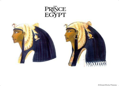Queen Tuya concept art from 'The Prince of Egypt'