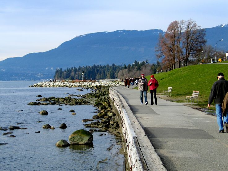 22 km starting at Coal Harbour and ending at Kitsalano Beach. Spectacular.