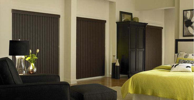Vertical Blinds http://blog.3dayblinds.com/best-energy-saving-window-treatments-3-day-blinds/
