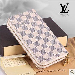 ルイヴィトンコピー 双ファスナー式長財布 ダミエ アズール グラフィット N62732G