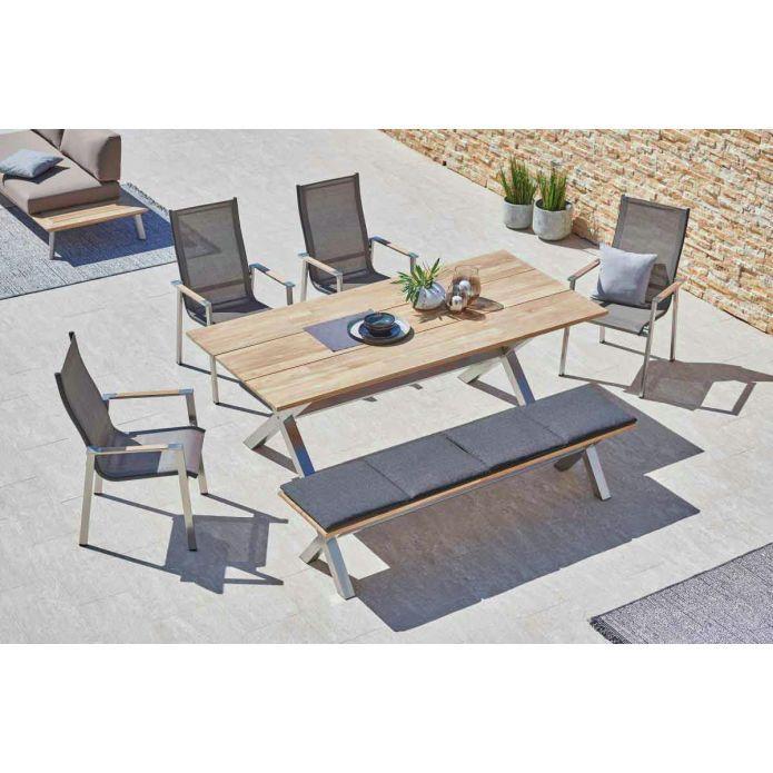 Amatio Sitzbank Caymann Gartentisch Aussenmobel Sitzgelegenheiten