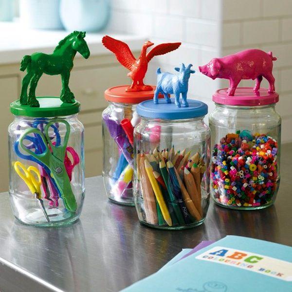 mason jar mania fun office organization idea