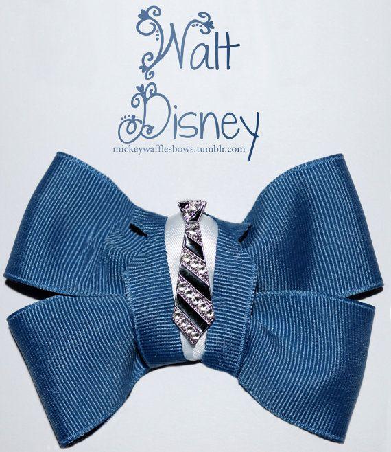 Walt Disney Hair Bow by MickeyWaffles on Etsy