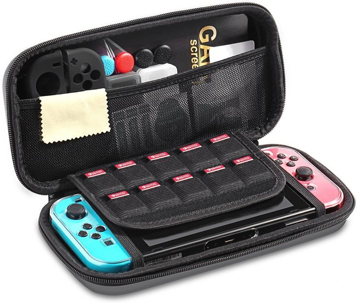 iAmer 11 in 1 Starter Kits for Nintendo Switch, Nintendo Switch Carrying Case+Transparent Switch Cover+3 Switch Screen Protector+Silicone Joy-Con Gel Guards+Thumb Grips Caps+ Game Card Case+Screen Wipe: Amazon.ca: Electronics