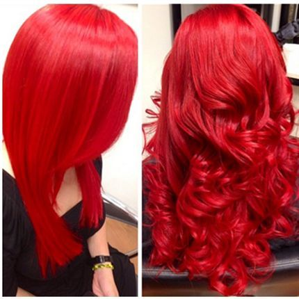 2 bottles red 2 bottles hot pink dot of yellow... @gypsysheep 's next hair color with inkworks