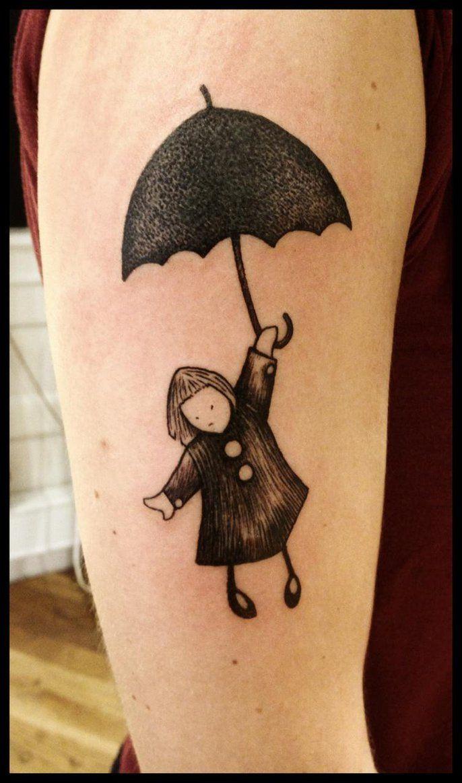 The umbrella girl tattoo by Meatshop-Tattoo