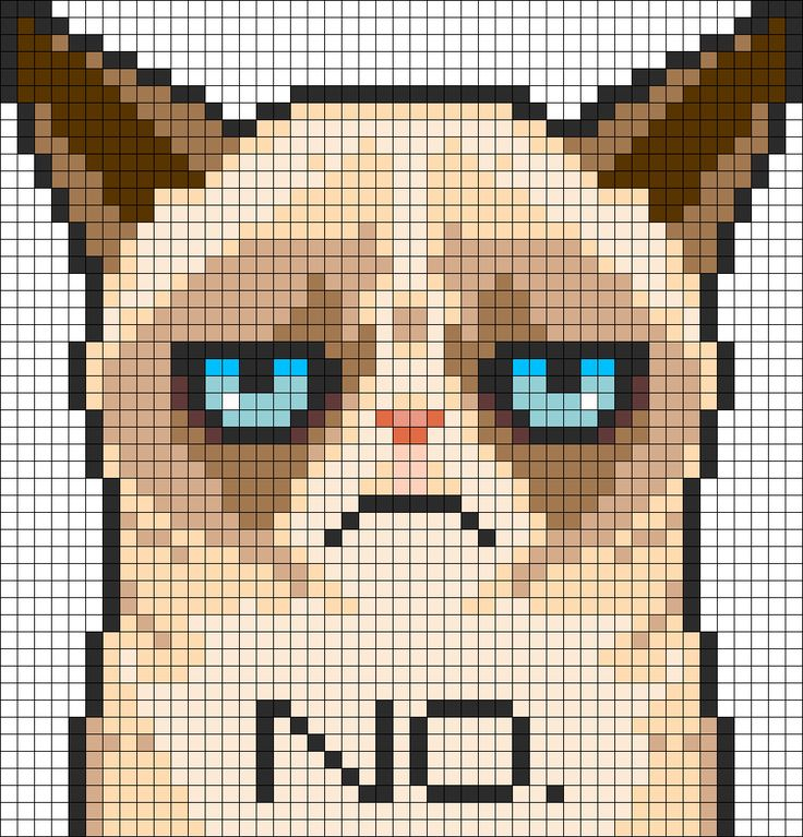 Grumpy Cat Perler Bead Pattern / Bead Sprite