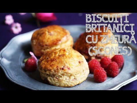 BISCUIȚI BRITANICI CU ZMEURĂ (SCONES) | Rețetă + Video – Valerie's Food
