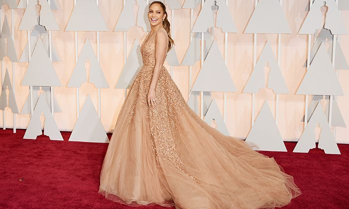 All the red carpet looks from the 2015 Oscars: Jennifer Lopez in Elie Saab. Photo: Getty