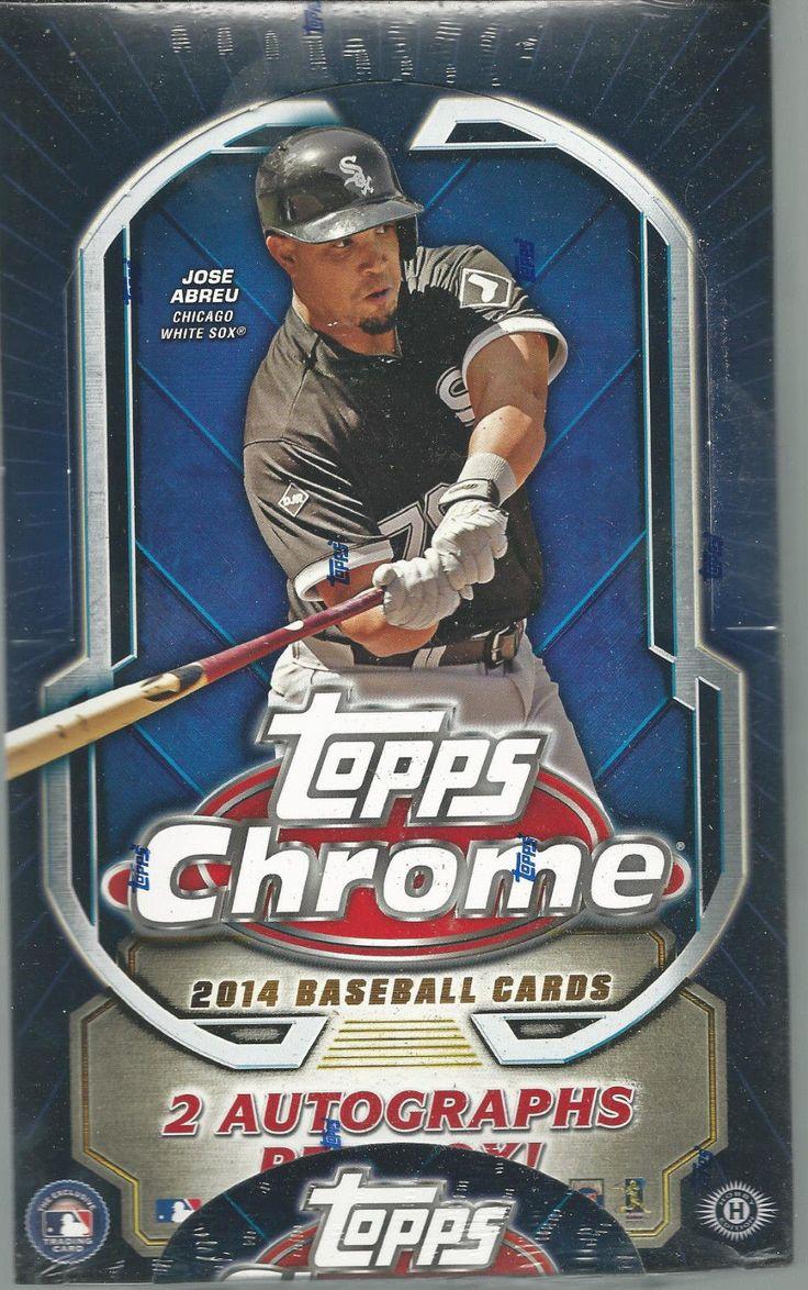 2014 TOPPS CHROME BASEBALL FACTORY SEALED HOBBY BOX 2 AUTO'S PER BOX #packs #cards #autos #hobby #sealed #chrome #baseball #factory #topps