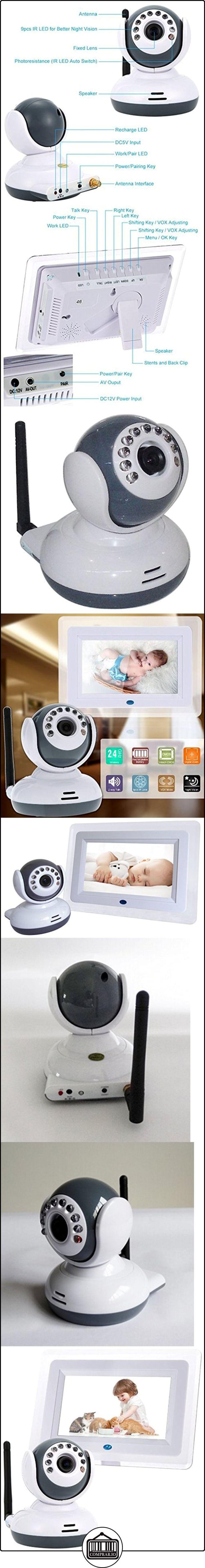 Vigilabebes, WER 2.4G, 7.0 pulgadas HD pantalla Baby Monitor Inalámbrico, Visión Nocturna Vídeo Audio Seguridad para Bebé  ✿ Vigilabebés - Seguridad ✿ ▬► Ver oferta: http://comprar.io/goto/B01L91GT6M
