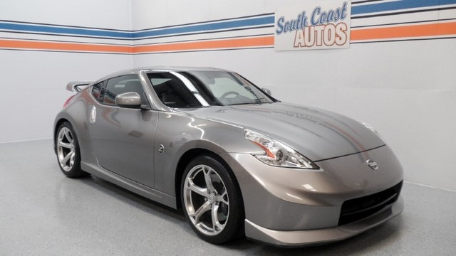 Platinum (silver) 2010 Nissan 370Z Nismo Edition V6 manual for sale in Houston, Texas 77008  Used car for sale in Heights 77008, Westheimer 77027, Galleria 77056, Tanglewood 77057, Richmond Ave 77063, Baytown 77571, NASA 77586, Corpus Christi TX 78419, San Antonio TX 78148, Fort Worth TX 75569.  Visit http://www.southcoastautos.com