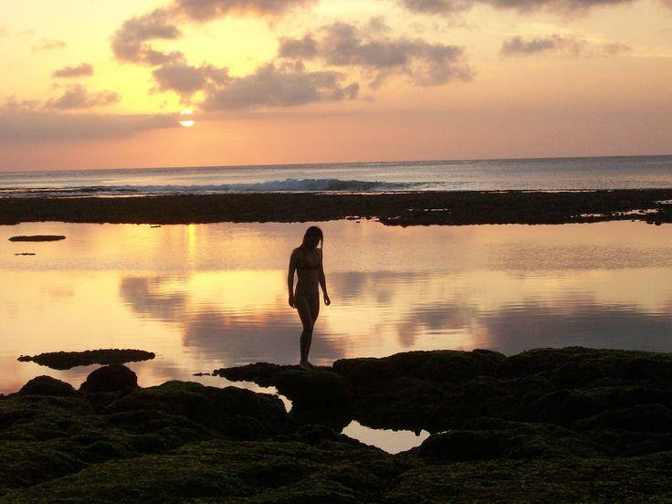 you.theworld.wandering sunset at Bingin, Bali, Indonesia.
